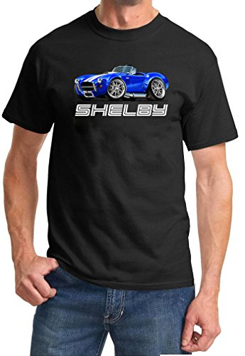 Shelby Cobra SC427 Exotic Car Full Color Design TshirtXL Black