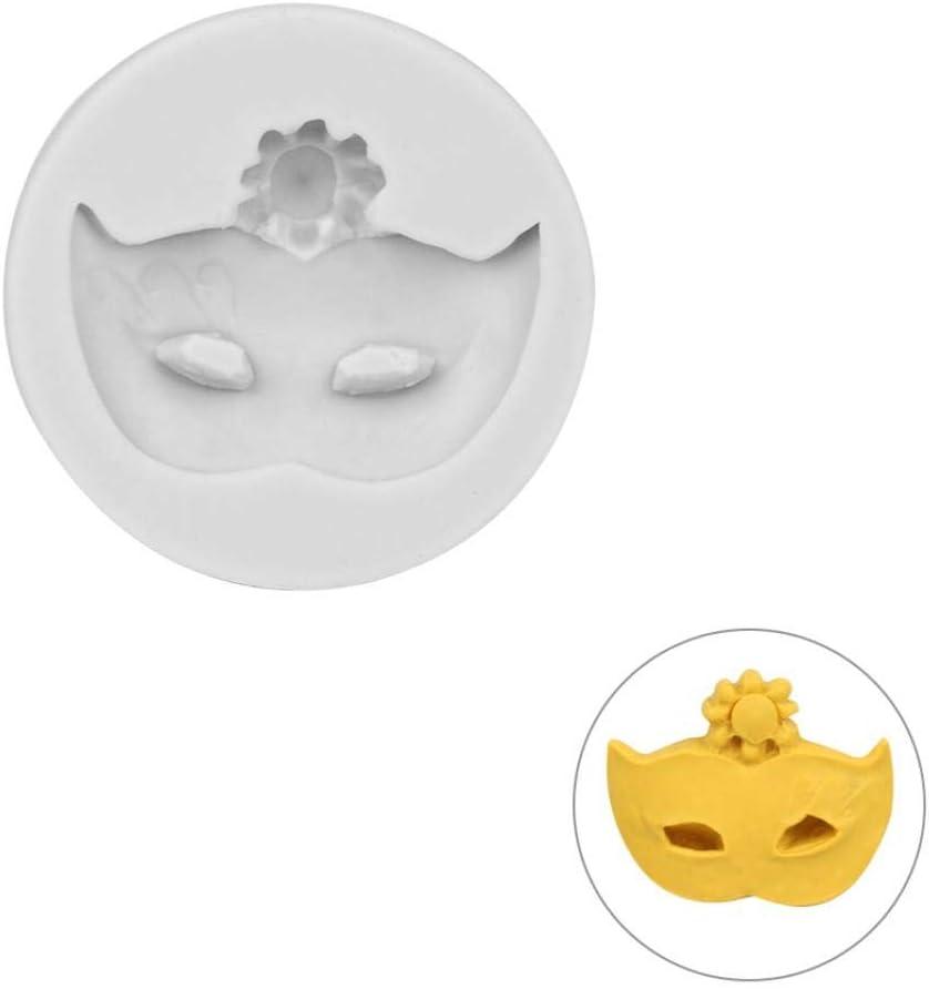 Gamloious Fondant Schokolade Sugar Mold Maskerade Maske Form Kuchen verziert Werkzeug-Silikon-Form Bakeware