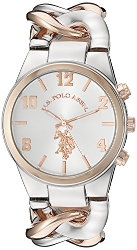 U.S. Polo Assn. Women s Quartz Metal and Alloy Casual Watch, Color:Two Tone (Model: USC40176)