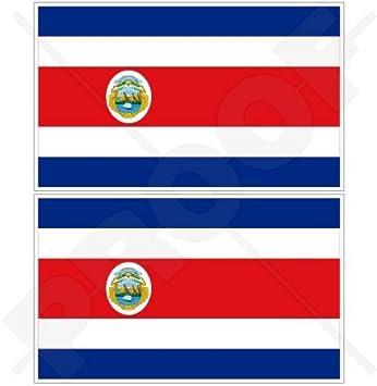 """COSTA RICA Estado Bandera, Centroamérica 3"""" (75mm) Pegatinas de Vinilo Adhesivos,"""