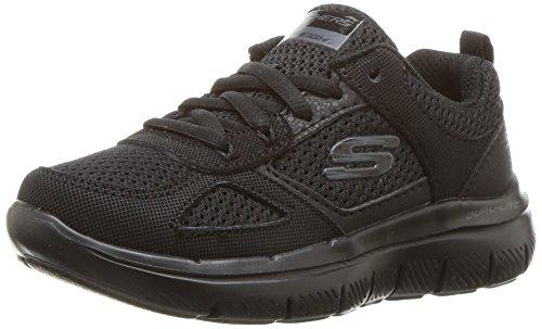 Image of Skechers Kids Kids' Flex Advantage 2.0-97459L Sneaker,Black/Black,11 M US Little Kid