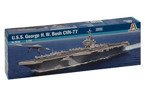 Amazon Com Italeri U S S George H W Bush Cvn 77 1 720 Scale Model