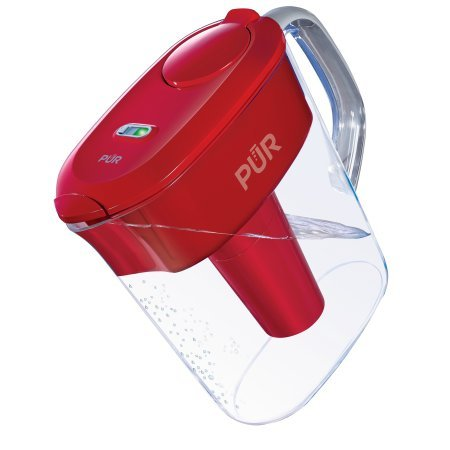 PUR 11 Cup Ultimate Pitcher Filtration System with Lead Reduction PPT111R, Red (Pur Faucet Mount Ultimate)