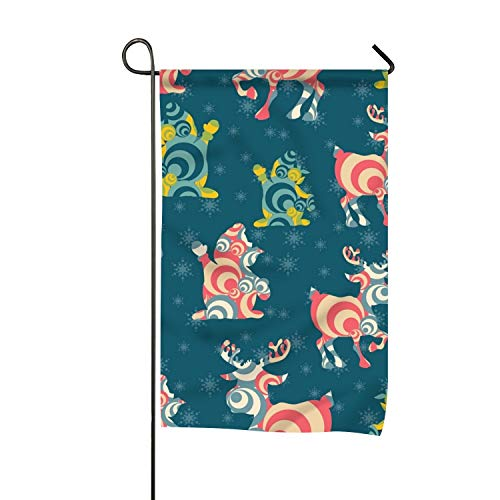 Abstract Deer Garden Flag Decorative Double Sided Vertical F