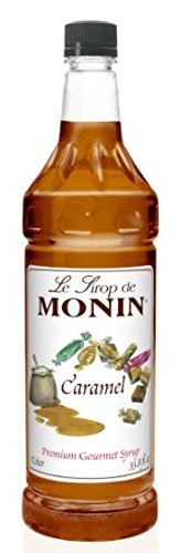 Monin Flavored Syrup, Caramel, 33.8-Ounce Plastic Bottle (1 liter)