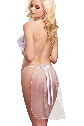 Women Sexy Briefs Tulle G-string Bride Underwear Wedding Accessories