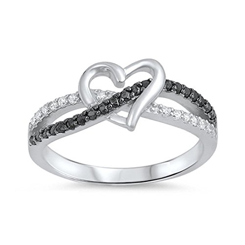 Interlocking Heart Ring - 9