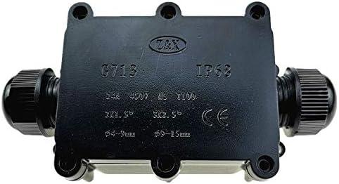 Huwenbin G713 IP68 Caja de Conexiones de Dos vías Impermeable para Proteger la Placa de Circuito: Amazon.es: Electrónica