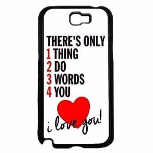 1234 Love - Plastic Phone Case Back Cover (Samsung Galaxy Note II 2 N7100) hjbrhga1544