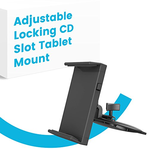 APPS2Car UniversalTablet Car Mount for CD Slot with Adjustable Rotation and Locking Button