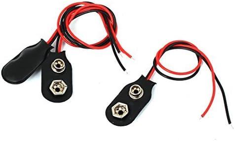 eDealMax 3 piezas de 15 cm de hilo Clip Soft Shell 9V batería de 9 voltios I Tipo de conector hebillas
