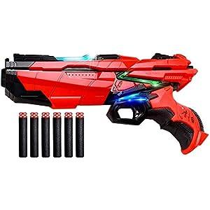Swonuk Foam Darts Hand Gun Toy Blaster Gun Compatible with Nerf Guns with 6-PCS Refill Foam Darts