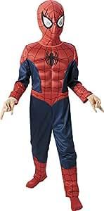 Marvel - Disfraz de Spiderman para niño, pecho musculoso y máscara, infantil 5-