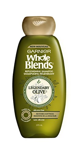 Garnier Whole Blends Shampoo with Virgin-Pressed Olive Oil & Olive Leaf Extracts,12.5floz