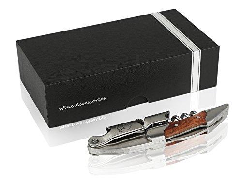 Gentesi TM Premium Waiters corkscrew Best wine bottle opener with Foil cutter And Wooden handle