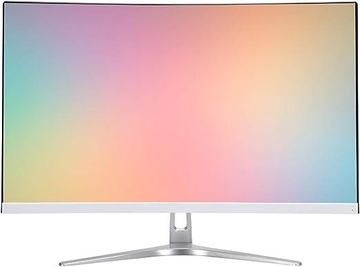 Monitor 27 pulgadas curvo Gaming Monitor - Full HD 1920x1080 resolución, frecuencia de actualización de 75 Hz, 2ms tiempo de respuesta, Puerto HDMI / VGA, ultra-delgado sin marco monitor, pantalla de: Amazon.es: Hogar