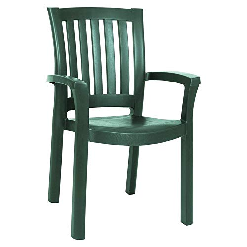 Compamia Sunshine Resin Dining Arm Chair in Green – Set of 4