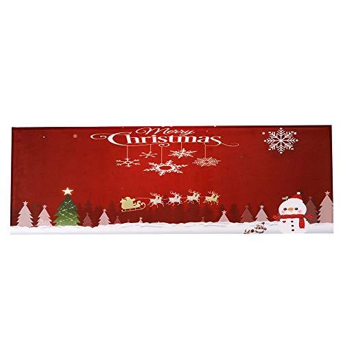 - Wffo Merry Christmas Welcome Carpets, Indoor Home Doormats Decor 40x120CM (G)