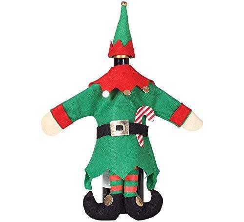 Dolce Idea Copribottiglia Natalizio Costume Elfo 40 cm