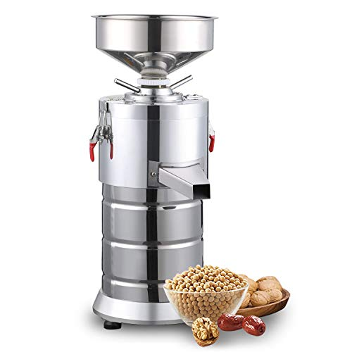 - 220V Electric Peanut Butter Maker Machine, Commercial Electric Grain Grinder Sesame Sauce and Peanut Sauce Grinder Commercial Peanut Butter Maker Sesame Butter Milling machine 15kg/h 1100W