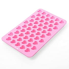 Longzang Silicone mold Mini Heart Shape Silicone Ice Cube / Chocolate Mold Pink 8 This is an adorable SINGLE small heart tray approx 7x 4.3 Inch that makes the cutest heart ice cubes. Green product, conforms to the American FDA quality, innoxious, no peculiar smell, soft, waterproof, easy to demould, fadeless and easy to clean, durable for long time use. Novelty ice trays make great accessories for parties