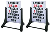 Swinging Sidewalk Message Board Signs Pack of Two (2)