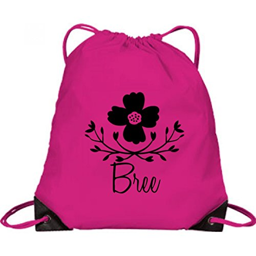Price comparison product image Cute Girls Flower Bag Bree: Port & Company Drawstring Bag