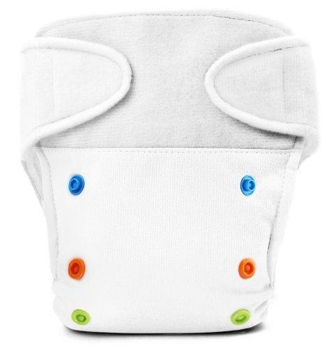 BabyKicks Basic Cloth Diaper Hook and Loop Closure, White by BabyKicks by BabyKicks