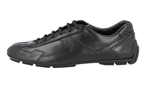 Prada Mens 4e2781 8qw F0002 Läder Sneaker