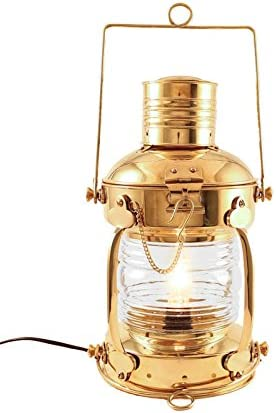 "Antique Brass 7/"" Minor Oil Lamp Nautical Maritime Mining Ship Lantern Boat Light"