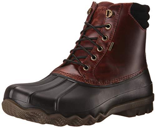 SPERRY Men's Avenue Duck Rain Boot, Black/Amaretto, 9 D(M) US