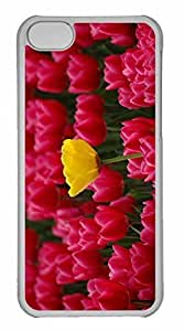 iPhone 5C Case, Personalized Custom Yellow Among Red for iPhone 5C PC Clear Case