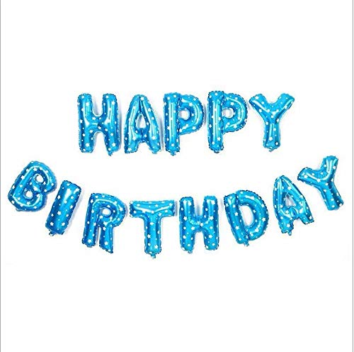 10th BIRTHDAY BLUE FOIL BANNERS AND BUNTING ****OFFER BOTH ITEMS FOR £2.99****