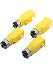 Yeeco 4 PCS DC Electric Motor 3-6V Dual Shaft Geared TT Magnetic Gearbox Engine for DIY Robot Toys Cars Chassis Models Vibration Products (1:120 Reduction Ratio)