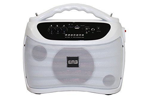 EMB PKX5BT 300W Portable Rechargeable Boom Box Speaker - White