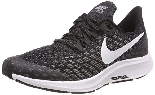Nike Boy's Air Zoom Pegasus 35 Running Shoe Black/White/Gunsmoke/Oil Grey Size 3 M US ()