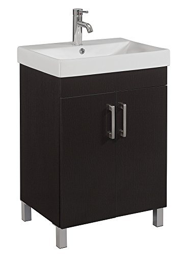 RunFine RFVAM0012 Vanity and Vitreous China Top, 24-Inch, Espresso ...