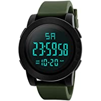 Watches for Men Clearance, Paymenow Men Luxury Calendar Analog Digital Watch LED Sports Wrist Watch (Green)