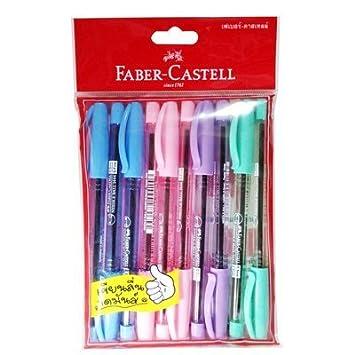 FABER-CASTELL NEEDLE BALL 1444 BALLPOINT PEN 0.5 MM BLUE INK 2 PEN