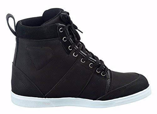 Dark Brown PROFIRST Leather Motorbike Waterproof Mens Boys Boots Shoes Sneaker Casual Racing Sports Touring Cruise EU 41 UK 7