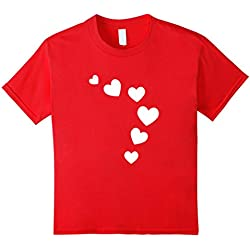 Kids Cool Valentines Day T Shirt A Great Gift for Girls and Boys 6 Red