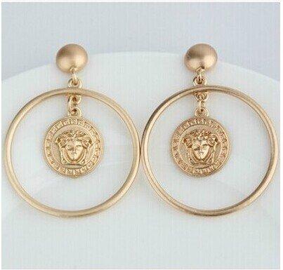 (usongs Medusa earrings women girls long section fashion jewelry earrings earrings elegant shipping)