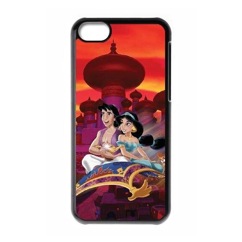Disney Aladdin et Jasmine TK61DG1 coque iPhone Téléphone cellulaire 5c cas coque Y8AJ7B0HE