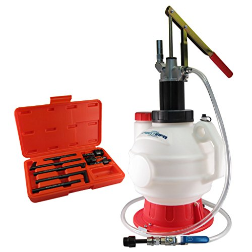 FIRSTINFO Manual 7.5L ATF OIL Dispenser with 8 Pcs ATF Adapter Refill System Kit -