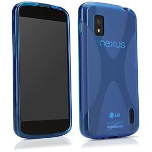 BoxWave LG Nexus 4 BodySuit, Premium Textured TPU Rubber Gel Skin Case - LG Nexus 4 Cases and Covers (Super Blue)