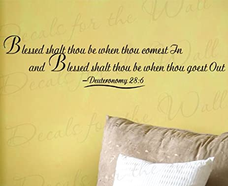 Amazon.com: Blessed Though Shalt Be When Thou Comest Deuteronomy 28 ...