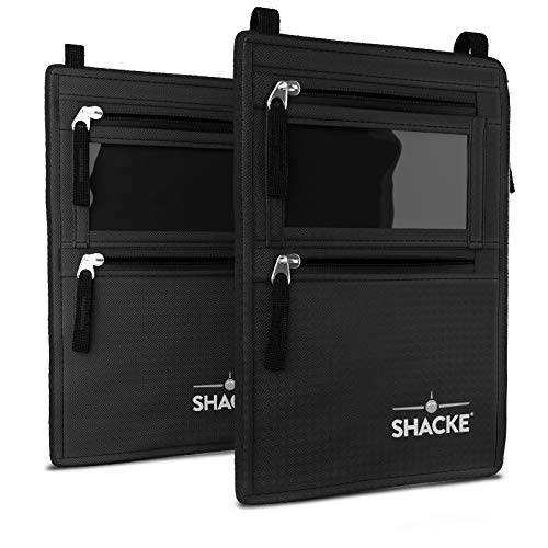 Shacke Neck Wallet Travel Pouch with RFID Blocking - 2pcs Neck -