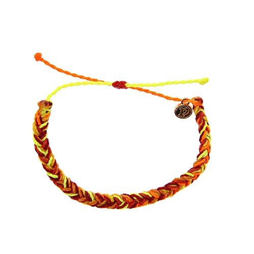 Pura Vida Coral Reef Braided Bracelet - Handcrafted Gold-Coated Charm, Adjustable Band - Wax-Coated, 100% Waterproof from Pura Vida