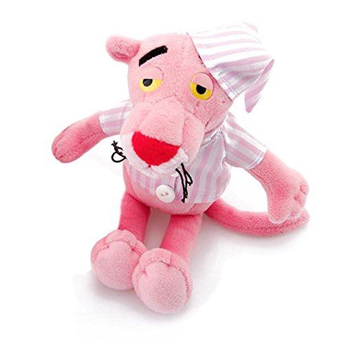 (Pink Panther in Pink Striped Pajamas, Stuffed Animals Plush Toy Backpack Clip Key Ring)