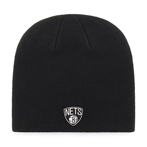 OTS NBA Brooklyn Nets Beanie Knit Cap, Black, One ()